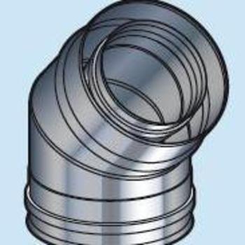 Coude 80/130 45° DP inox