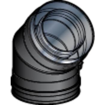 Coude 80/130 45° DP Noir Mat