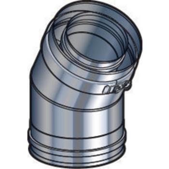Coude 100/150 30° DP inox