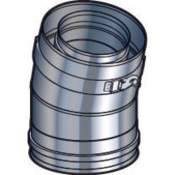 Coude 100/150 15° DP inox