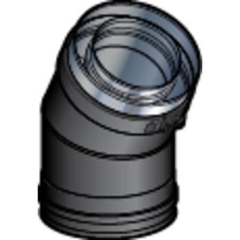 Coude 130/200 30° DP Noir Mat