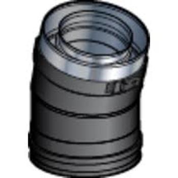 Coude 130/200 15° DP Mat Noir