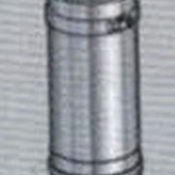 Elément droit 25cm 80/130 inox